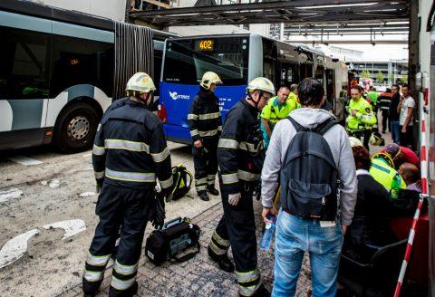 ongeluk, bus, hermes, foto: Hugo de Jong