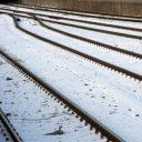 winter, spoor, sneeuw