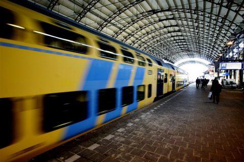 Station, Haarlem, trein, NS
