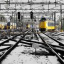 trein, NS, winter, spoor