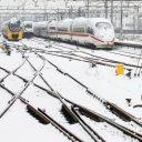 Sneeuw, spoor, Amsterdam Centraal, NS