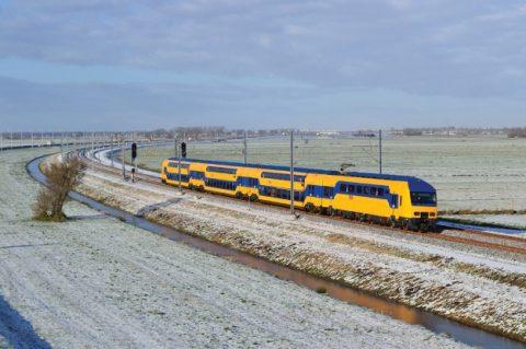 trein, NS, winter