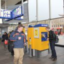 Kaartautomaat, tickets, reizigers, station, Breda