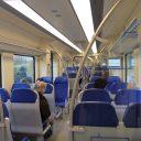 Reizigers, trein, interieur, sprinter