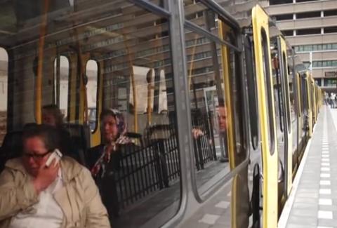 reizigers, tram, Utrecht