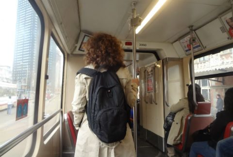 reizigers, tram, HTM, openbaar vervoer