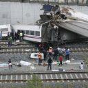 ongeluk, passagierstrein, Santiago de Compostela, Spanje