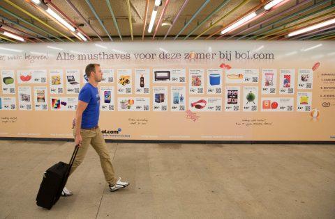 Virtuele winkel, Rotterdam centraal station, metrostation, RET