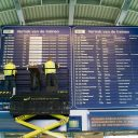 Informatiebord, centraal station, Utrecht