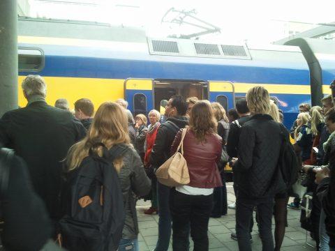 volle trein, NS, drukte, reizigers