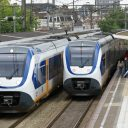 sprinters, station, Delft,