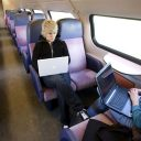 laptop, trein, internet, wifi