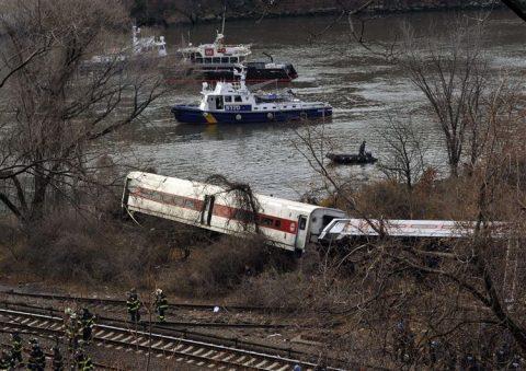 Treinongeluk, passagierstrein, ontsporing, New York