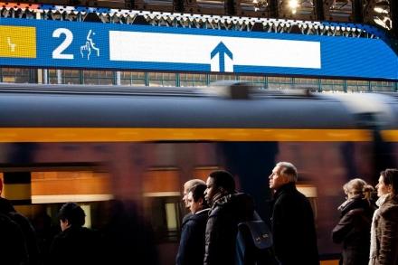 Dynamische Instapinformatie, station Den Bosch, LED-verlichting