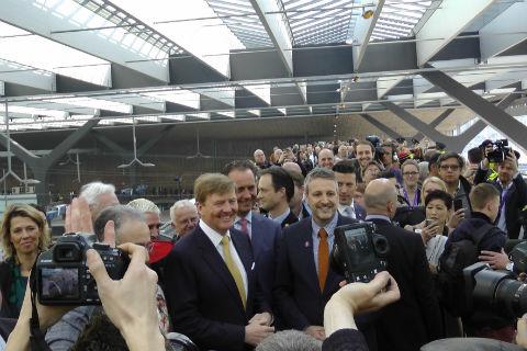 Koning Willem-Alexander, opening Rotterdam CS