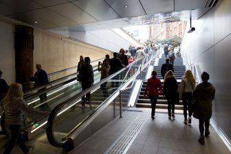 Ingang, metro, Stationsplein, Noord/Zuidlijn, Amsterdam