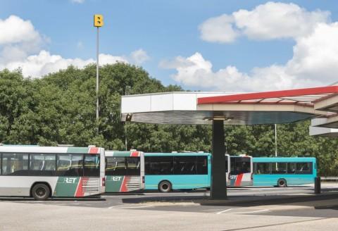 Herkenningssymbool B, bushalte, Rotterdam