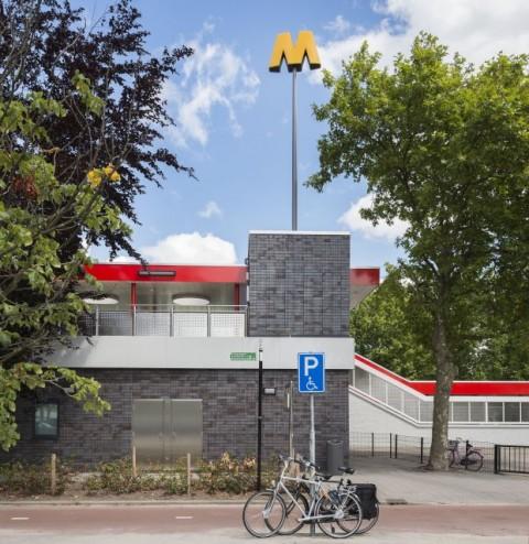 Herkenningssymbool M, metrostation Kralingse Zoom, Rotterdam