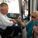 Oudere reiziger, GVB, tram, openbaar vervoer