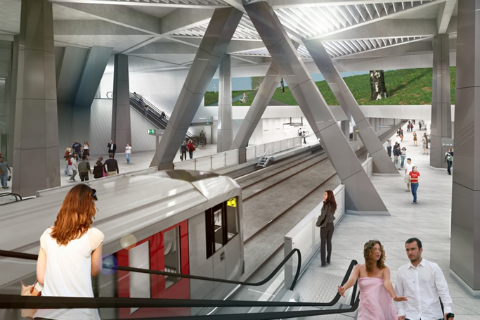Kunstwerk, metrohal, Noord/Zuidlijn, Amsterdam, Centraal Station