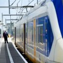 Conducteur, trein, NS, perron