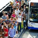drukke bushaltle, gvb, shiphol, bus