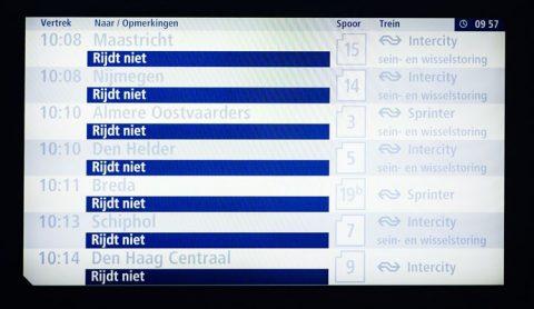 Storing, NS, geen treinen, Utrecht
