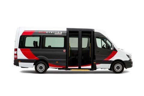Tribus Civitas Economy, lagevloer, minibus, rolstoelbus