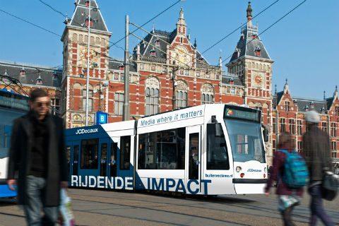 GVB, tram, Centraal Station, Amsterdam