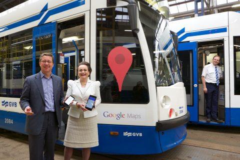 gvb, google maps, reisinformatie