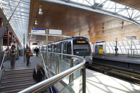 Station Schiedam Centrum, metro, RandstadRail