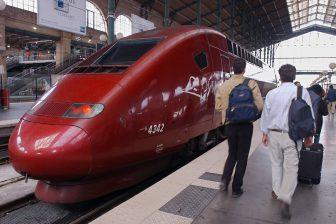 Thalys, hogesnelheidstrein, Station Nord, Parijs, reizigers