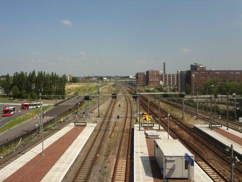 Spoor, rails, station, Breda