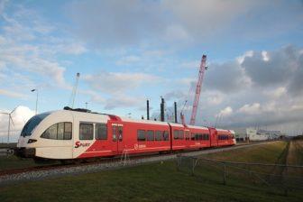 Arriva, trein, Eemshaven, foto: provincie Groningen
