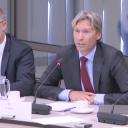 Gosse Veenstra, secretaris FMN, Hans Peters, commercieel directeur NS Reizigers, Tweede Kamer