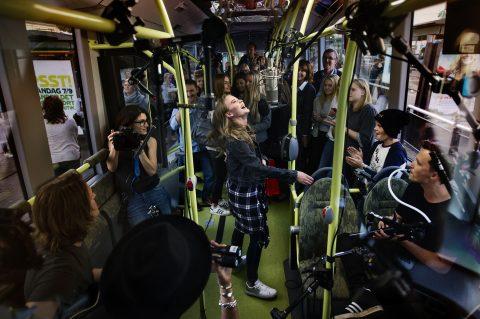 Zara Larsson, Volvo bus, ElectriCity