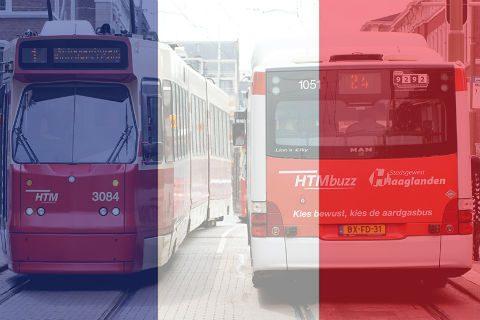 Herdenking Frankrijk, bus, tram, HTM