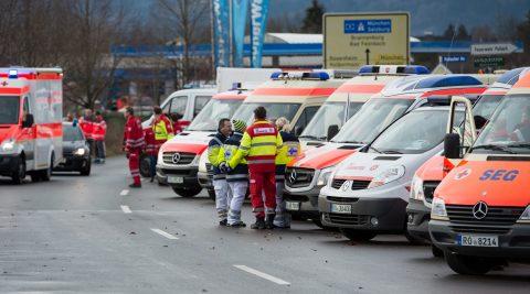 Treinramp Bad Aibling bij Rosenheim in Duitsland