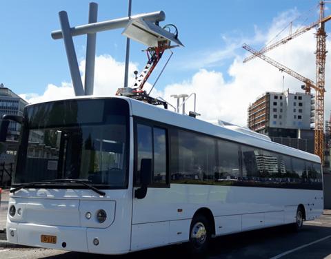 Linkker, elektrische bus, laadpaal