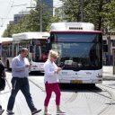 Bussen van HTM in Den Haag, foto: ANP