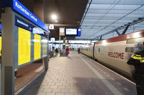 De Thalys op Rotterdam Centraal, foto: ANP