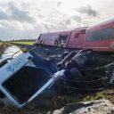 Ontsporing Arriva-trein in Winsum, foto: ANP