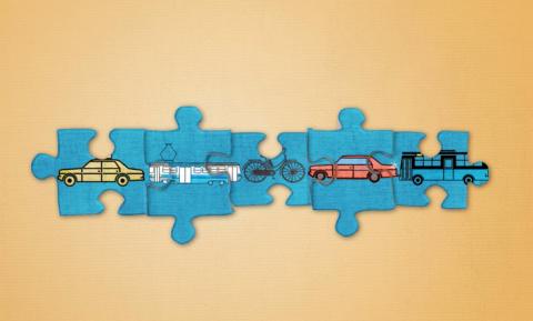 Illustratie van Mobility as a Service
