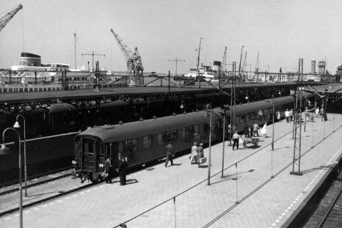 Boottrein Hoek van Holland in 1959