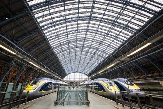 Eurostar-treinen op Londen (foto: NS)