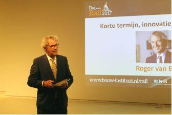 Directeur Roger van Boxtel van NS tijdens Dag van de Rail