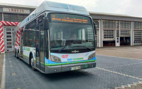 De waterstofbus in Rotterdam van Van Hool