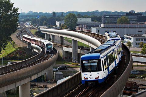 Metro's GVB, Amsterdam, sporen (foto: GVB Verbindt)