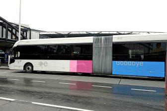 Elektrische bus op Schiphol