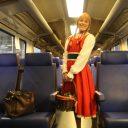 Roodkapje in NS-trein richting België